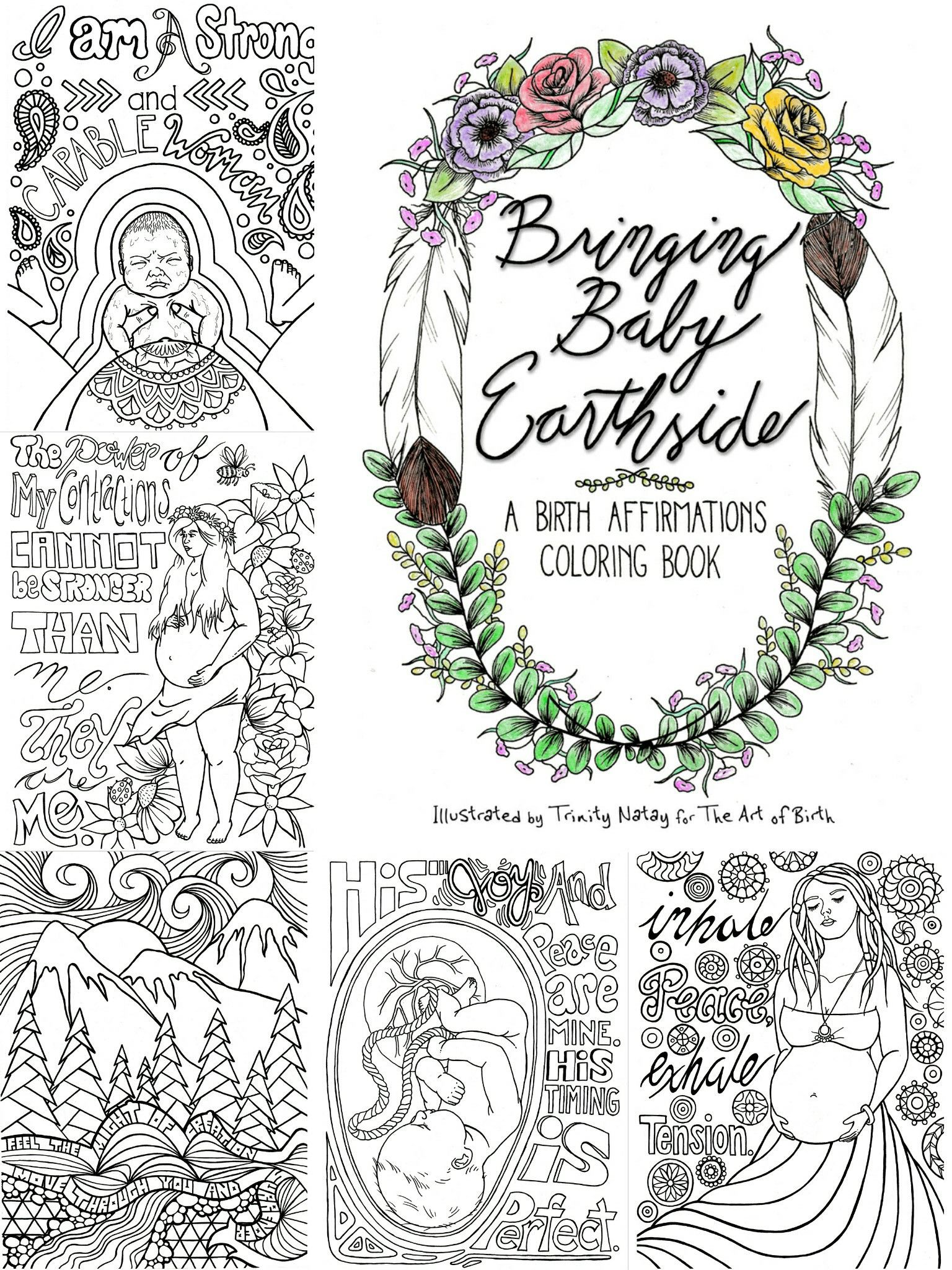 Bringing Baby Earthside A Birth Affirmations Coloring