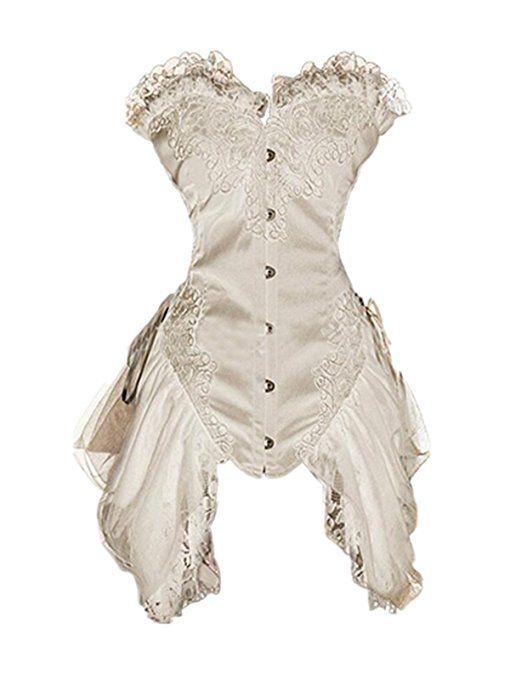 3ebea3604fe Leright Women s Corset Dress Overbust Vintage Victorian Gothic Lingerie  Corset