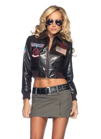 Leg Avenue Licensed Top Gun The Movie Womens Bomber Jacket Pilot
