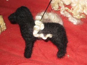 Needle Felting Directions~A Tutorial~Needle Felted SHEEP or DOG with Armature…
