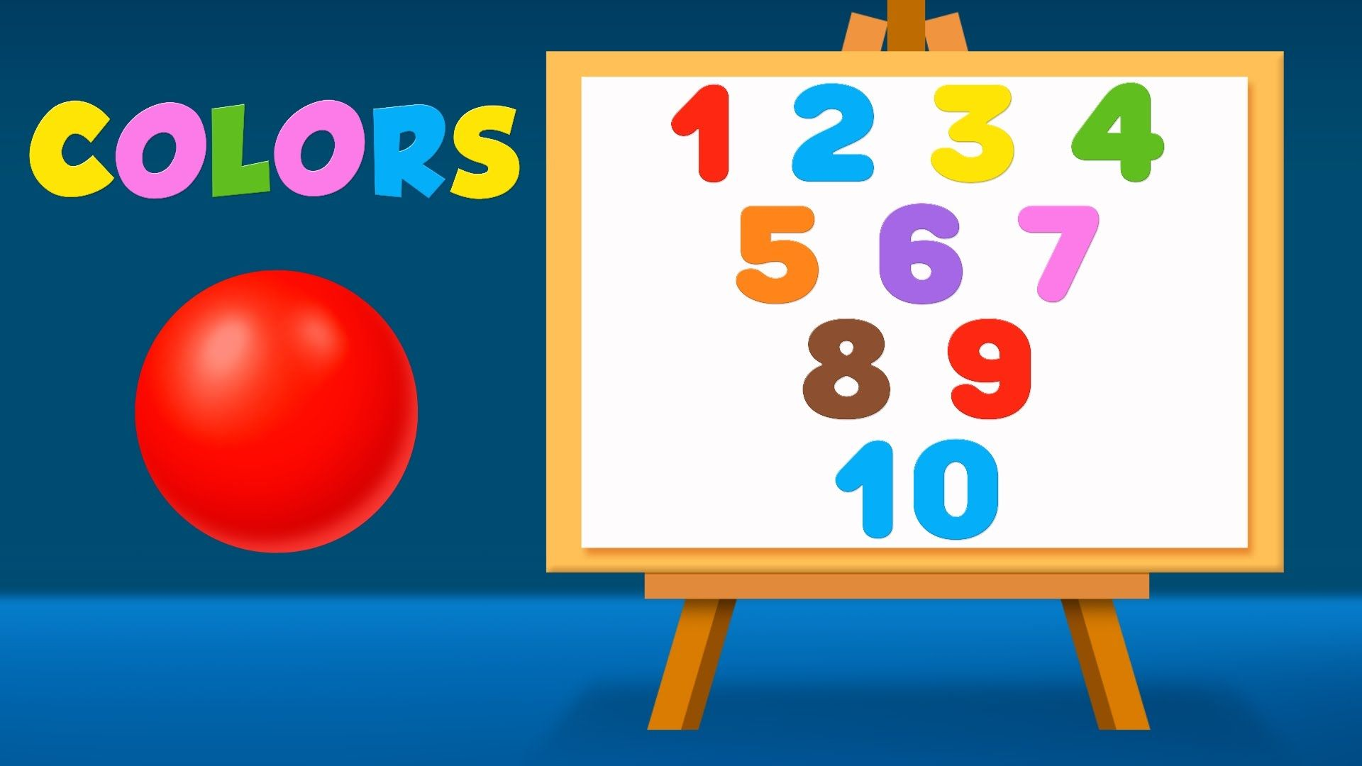 Numbers And Colors For Children To Learn With Color Balls And Surprise Eggs Learning Numbers Coloring For Kids Abc Songs
