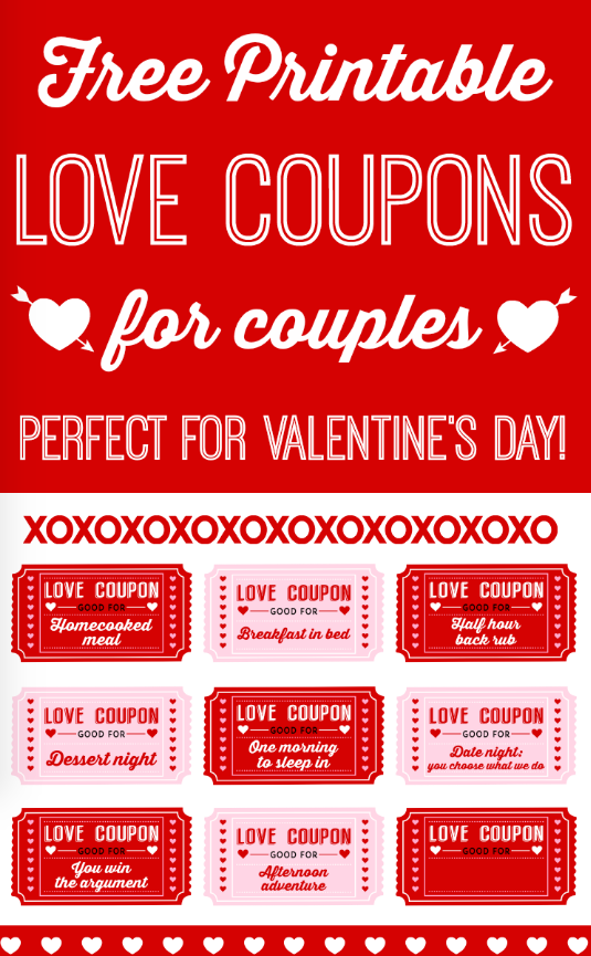 Free Printable Love Coupons For Couples Catchmyparty Com Valentines Printables Free Love Coupons Free Printables
