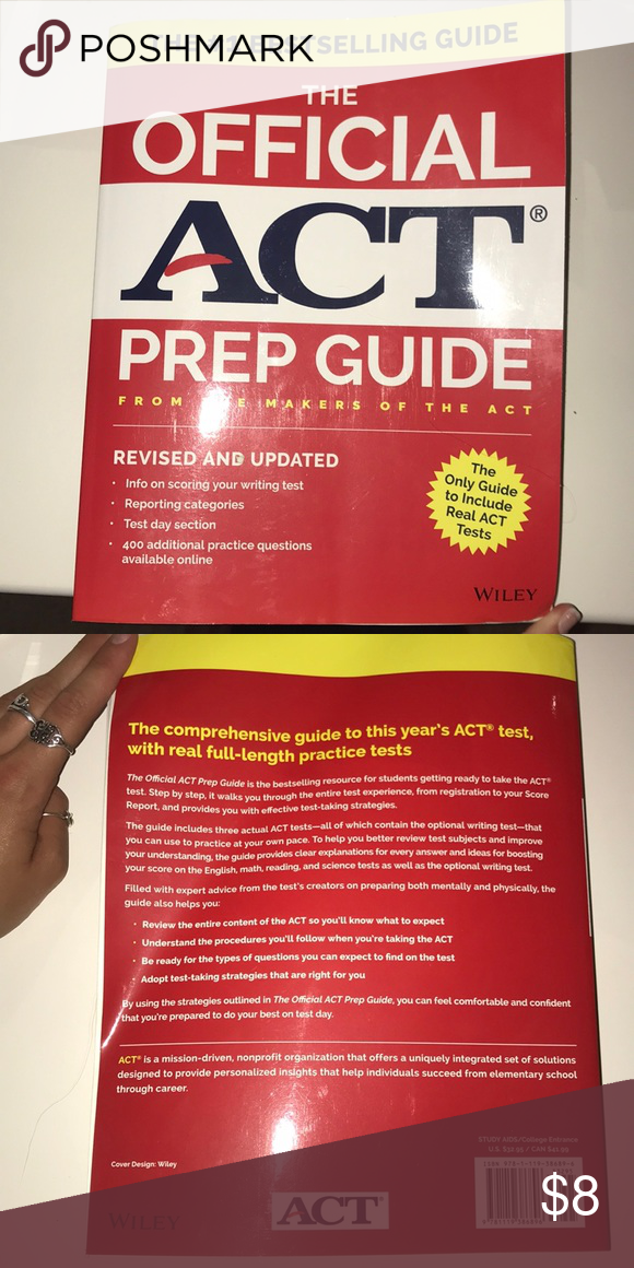 ACT prep Book (2017-2018) Guide with three practice tests (Official