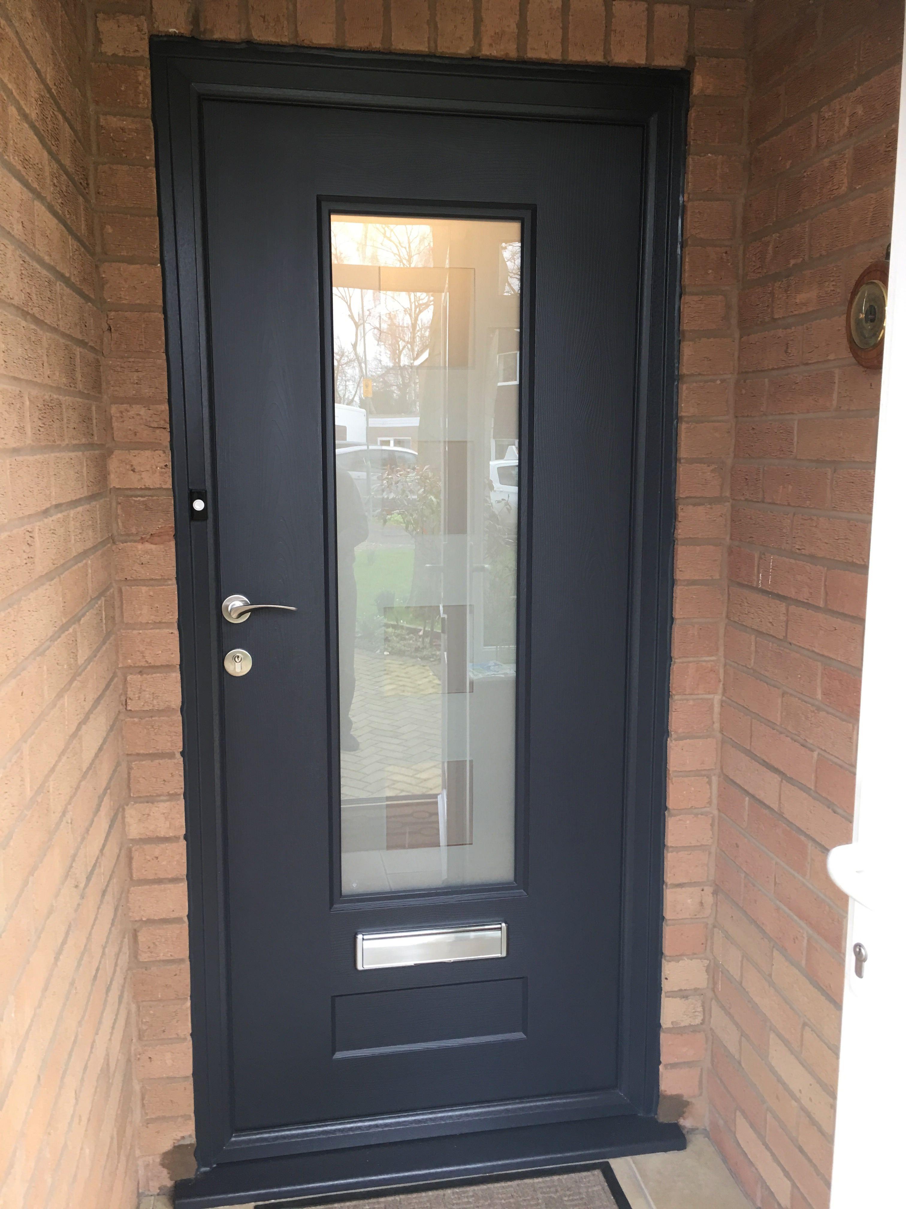 Rockdoor Vogue With Rose Handle In Anthracite Grey Http Verysecuredoors Co Uk Utm Content Buffere820d U Front Doors Uk Composite Front Door Front Door Styles