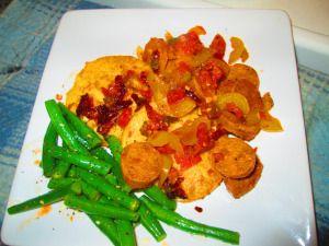 Polenta et Saucisse #veganrecipe,
