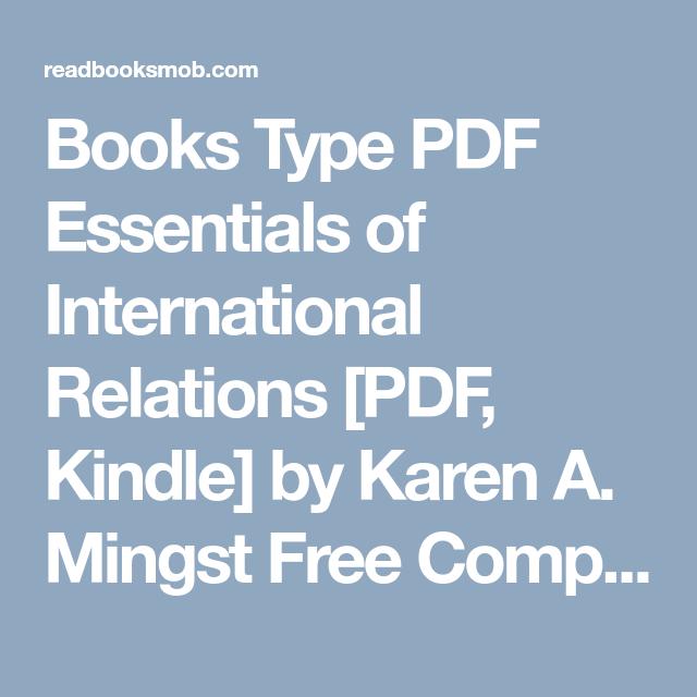 Books Type PDF Essentials of International Relations [PDF