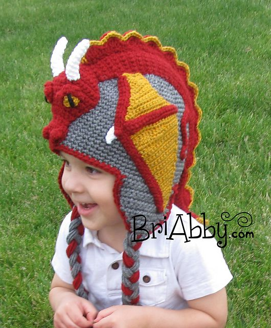 Dragon Hat pattern by Gramma Beans