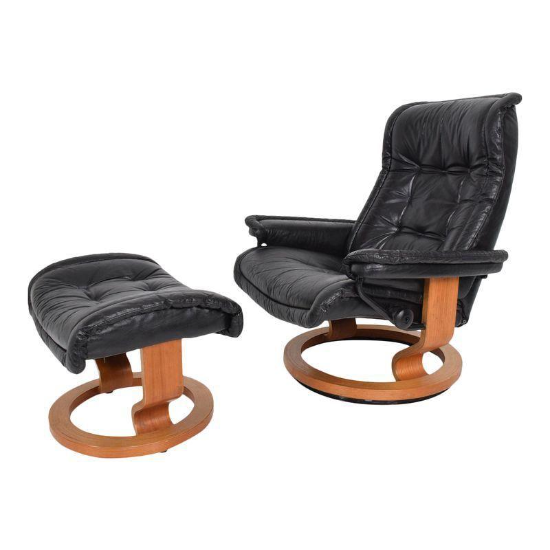 Incredible Vintage Scandinavian Modern Ekornes Stressless Recliner Caraccident5 Cool Chair Designs And Ideas Caraccident5Info