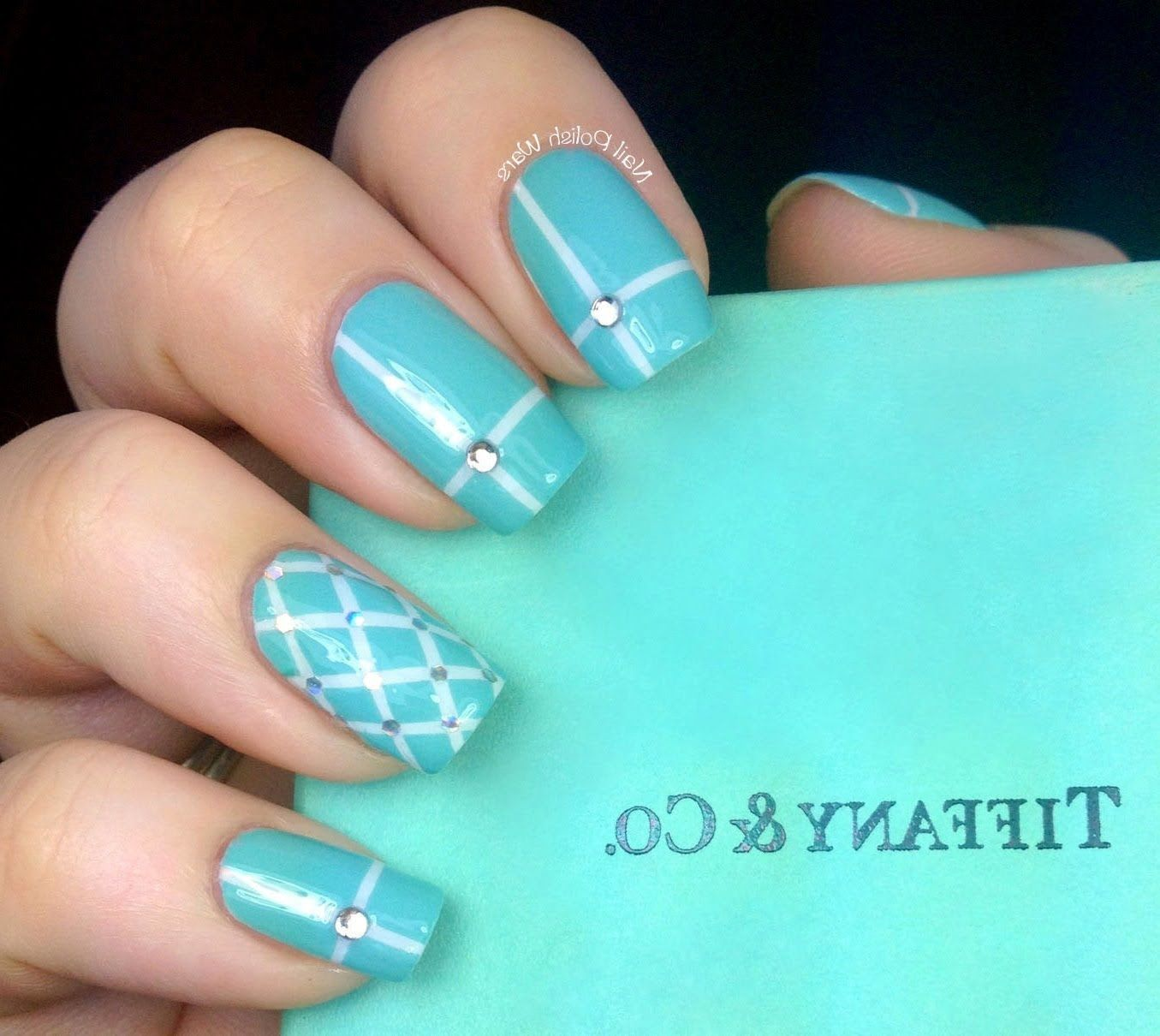 Tiffany and co inspired nail art designs how to with art design tiffany and co inspired nail art designs how to with art design about cute beginners nails prinsesfo Images