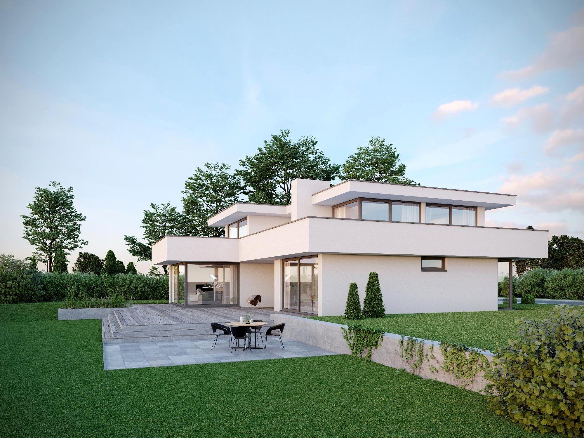 Moderne Haeuser Flachdach Detail Hauser Bauen Beim Haus