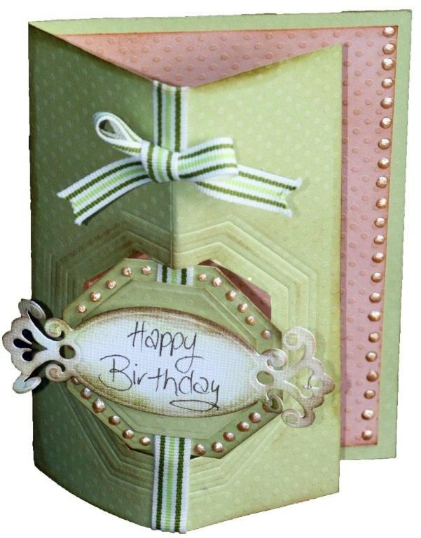 DownUnder Direct Inspirations: Hexagon Cut Out Birthday Card with Spellbinders dies.