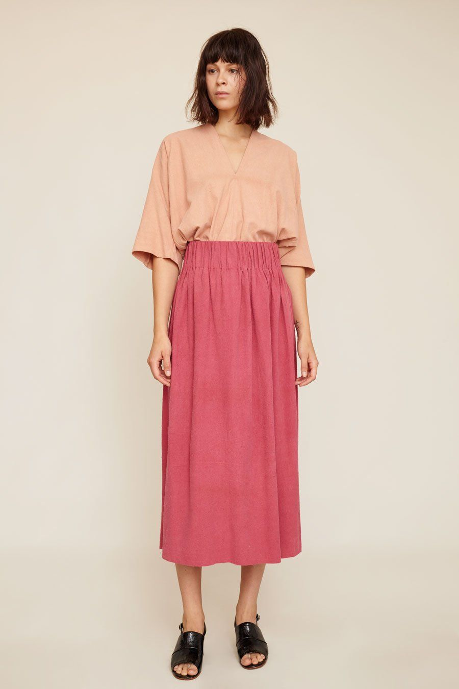 6f5170c2a5 Miranda Bennett Paper Bag Skirt in Rio Silk Noil | style inspiration ...