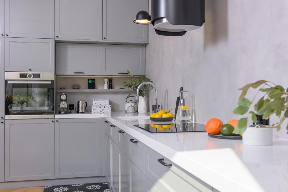 Szare Mieszkanie Architektki Z Elementami Urban Jungle Kitchen Cabinets Kitchen Home Decor