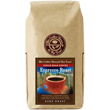 The Coffee Bean Tea Leaf Espresso Roast Blend Dark Roast Whole Bean Coffee 12 Oz Bag Walmart Com Coffee Beans Tea Leaves Dark Roast