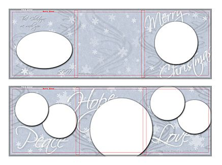 free photoshop templates snow swirls 5x5 trifold card template by