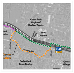 The Mobility Authority Is Constructing A Mile Shared Use Path - 183a toll road map