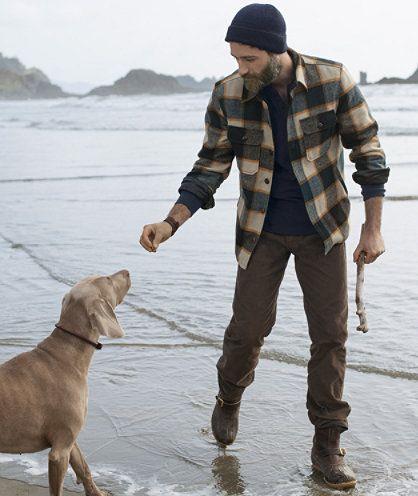 Lined Wool-Blend Shirt Jacket, Check: SHIRTS | Free Shipping at ...