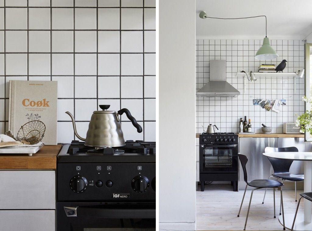 le joint noir ou gris pour le carrelage decoration cuisine carreaux blancs et joint. Black Bedroom Furniture Sets. Home Design Ideas