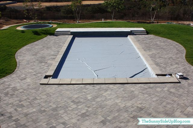 underground trampoline and mechanical pool cover