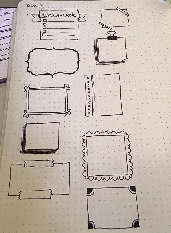 Bullet journal boxes banner ideas templates borders also best border designs images notebook caro diario hand lettering rh pinterest