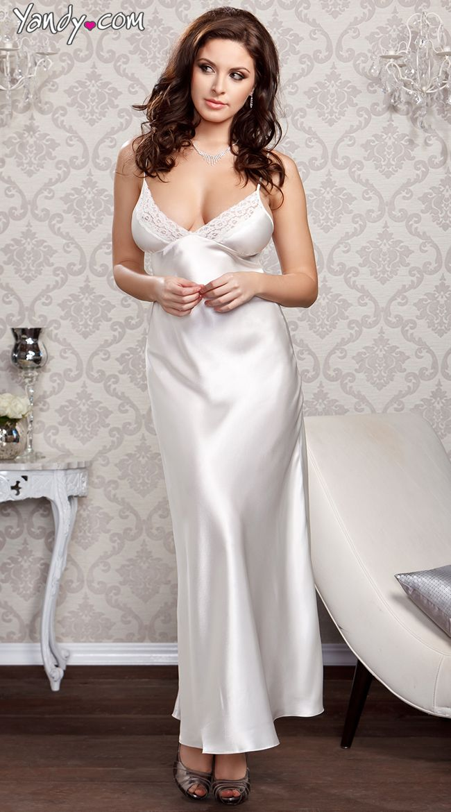 Pin by Myixx on LONG Nightgown   Pinterest   Satin, Lingerie and ...