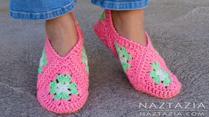 Photo of How to Crochet Granny Square Slippers – Naztazia ®