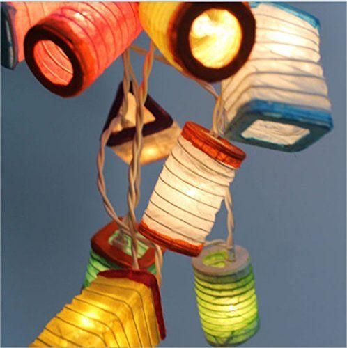 3m 20er laternen bunt aus papier f r led lichterketten weihnachtsbeleuchtung led. Black Bedroom Furniture Sets. Home Design Ideas