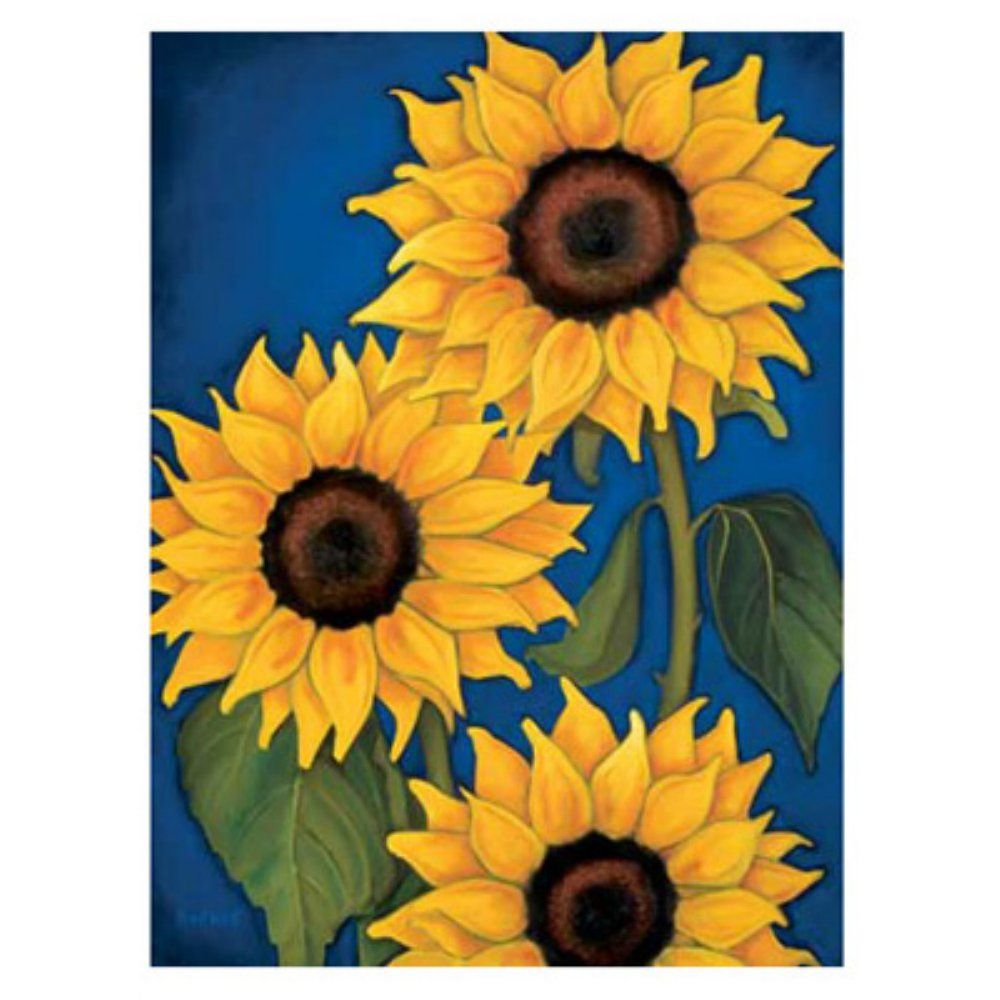Sunflowers Wall Art - For indoor use only Combination of blue ...