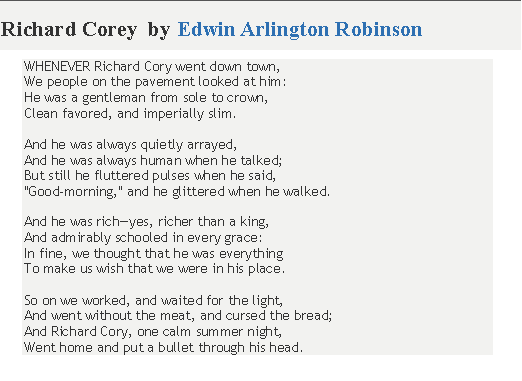 How To Write An Essay Thesis Richard Cory By Edwin Arlington Robinson I Am Supposed To Be Writing An  Essay About This Poem Right Now First Day Of High School Essay also Psychology As A Science Essay Richard Cory By Edwin Arlington Robinson I Am Supposed To Be Writing  Essay Science