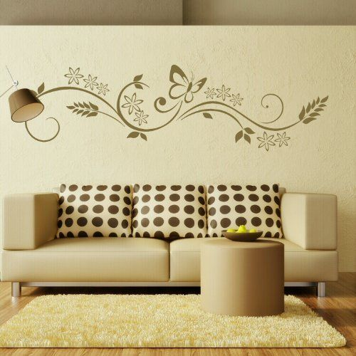 Floral Modern Wall Transfer / Removable Wall Graphic / Interior ...