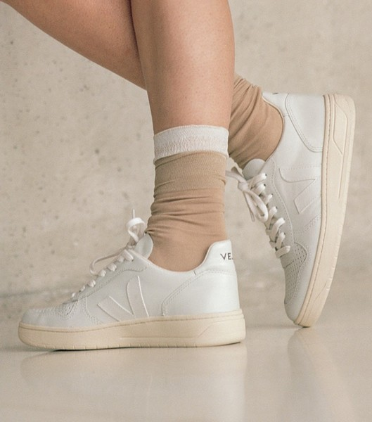 Veja Sneaker Damen V 10 Leather Extra White