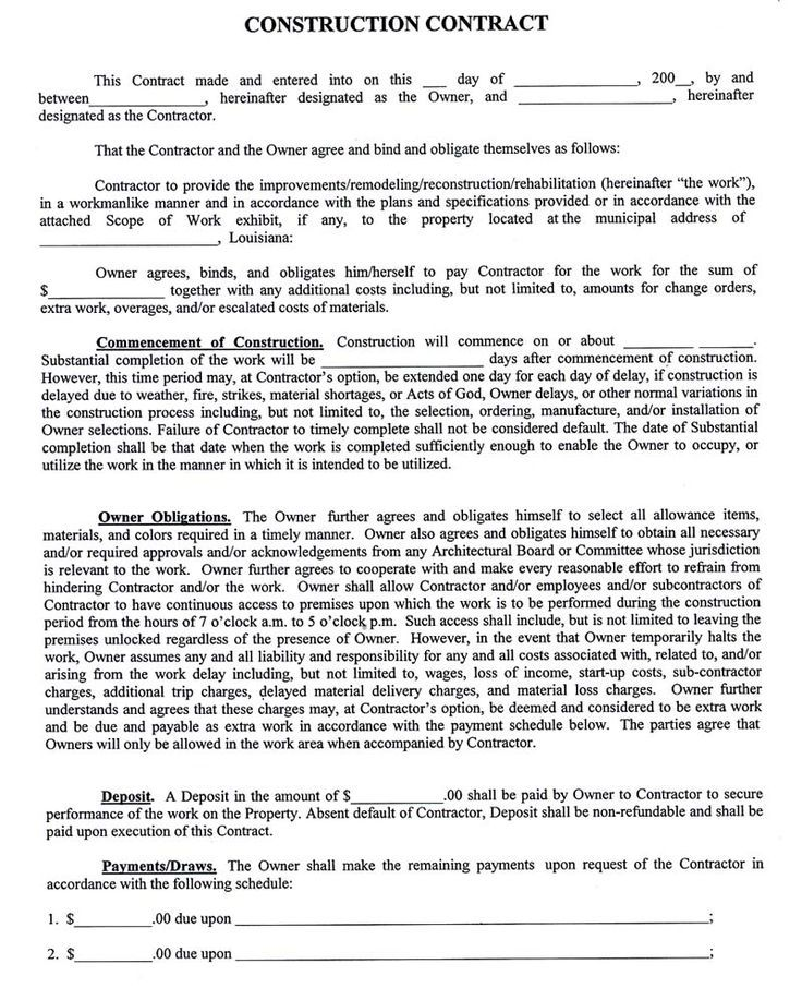Home Job Group Real Home Construction Contract Contract Template Cost Plus Contract
