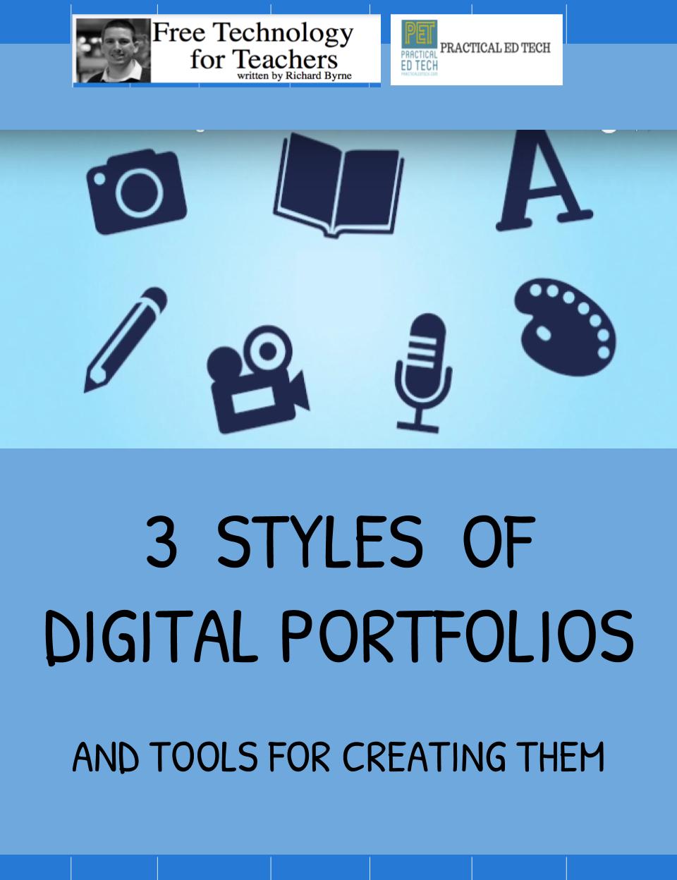 Three Styles Of Digital Portfolios And Tools For Creating Them Digital Portfolio Online Teaching Portfolio Teaching Portfolio