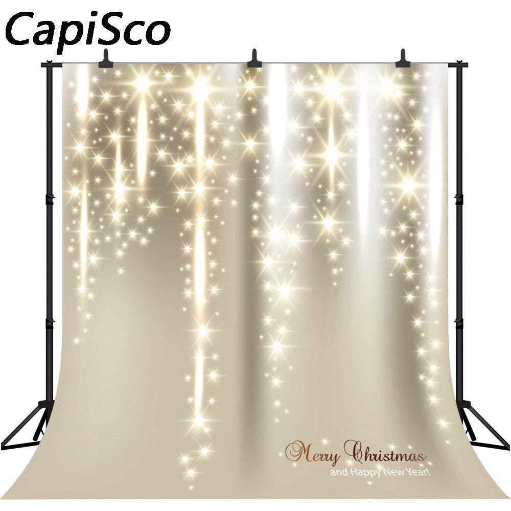 رخيصة Capisco عيد الميلاد الخلفيات التصوير الخلفيات الذهبي هالة الوليد عيد الميلاد الخلفيات للتصوي Background For Photography Vinyl Backdrops Flash Photography