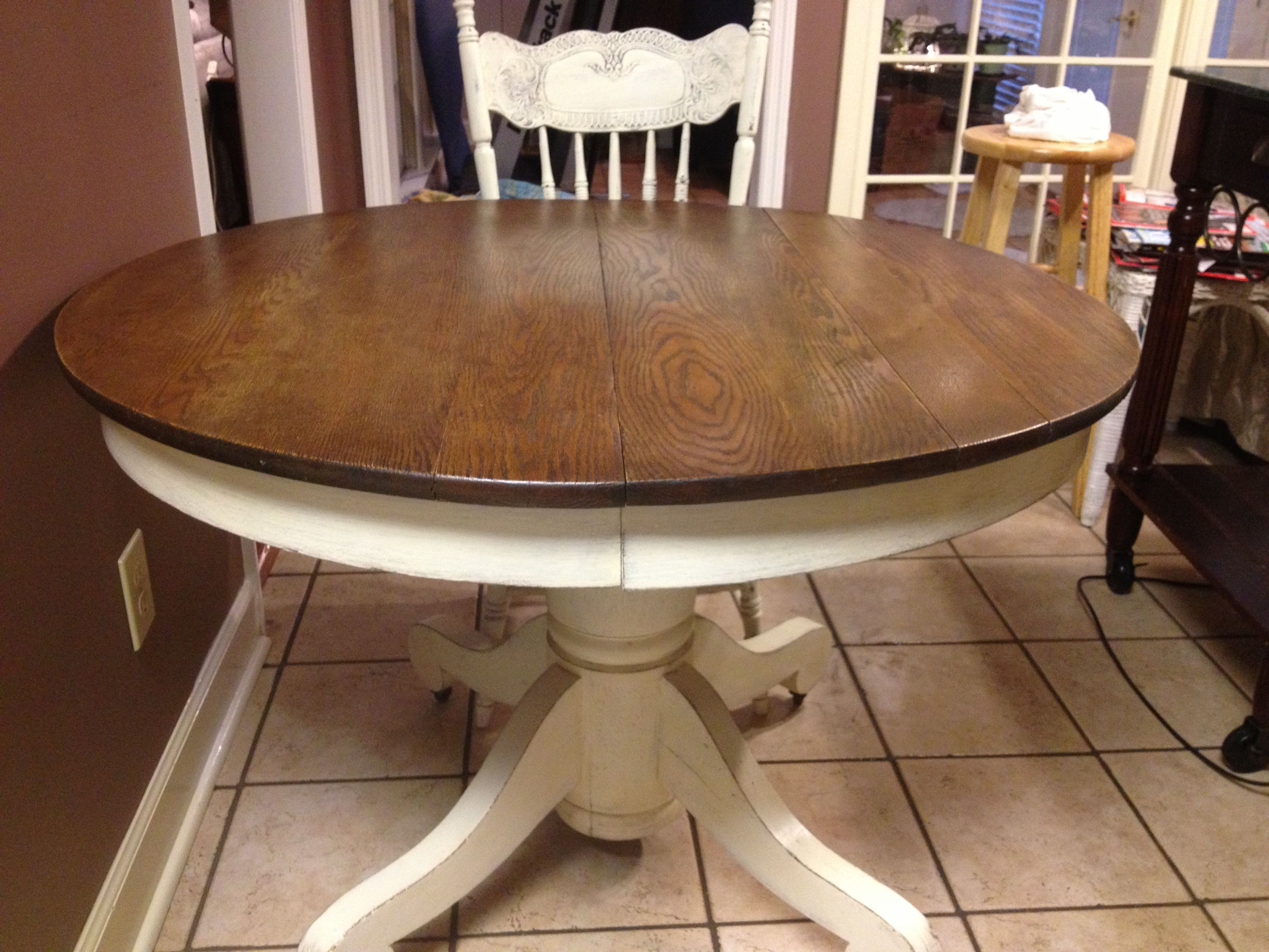 Used Kitchen Table And Chairs Beach Chair With Cooler Painted In Old White Left The