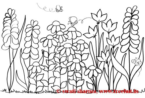Garden Scene Colouring Pages Page 2 Garden Coloring Pages