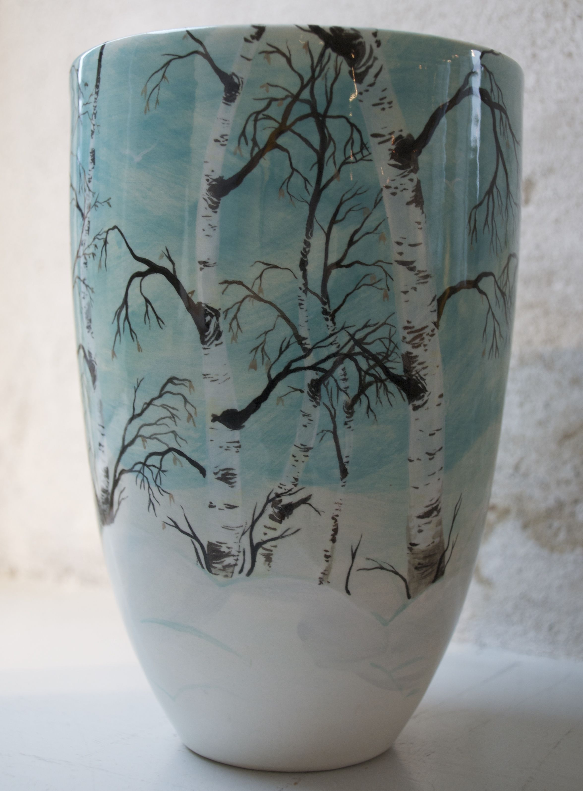 Ceramics vase with birch trees painted by lisbeth thygesen my ceramics vase with birch trees painted by lisbeth thygesen reviewsmspy