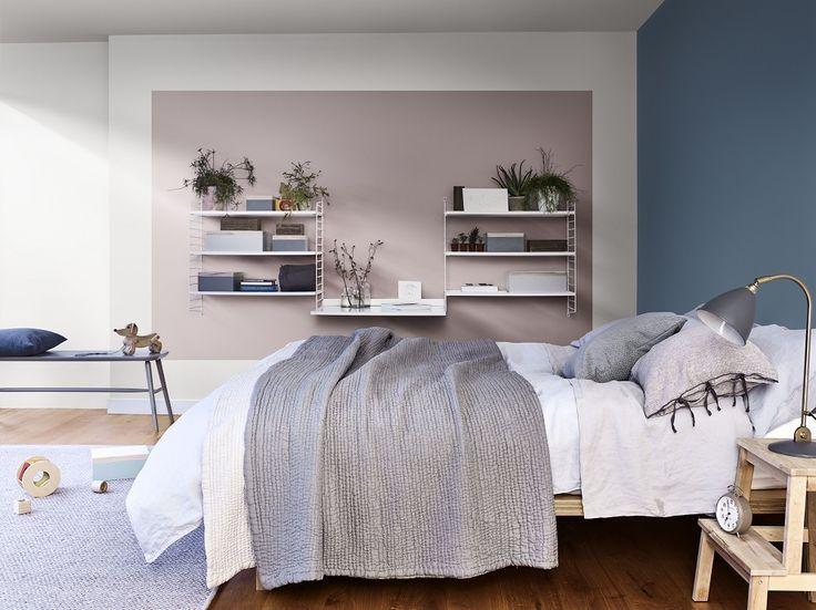 Slaapkamer Muur Kleuren : Heart wood kleur van het jaar wooninspiratie slaapkamer