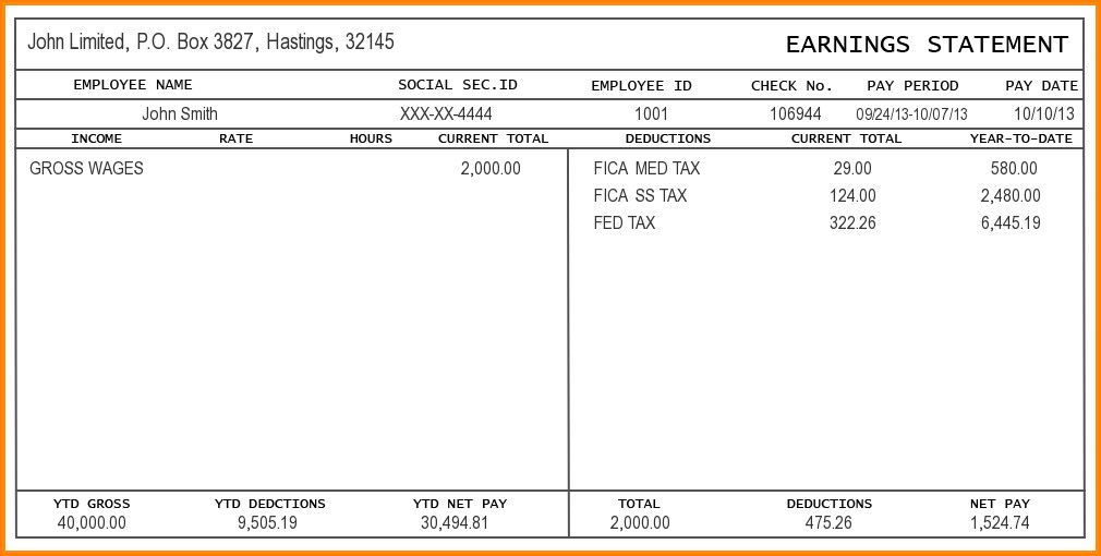 Blank Pay Stubs Template Interesting 9 Free Editable Pay