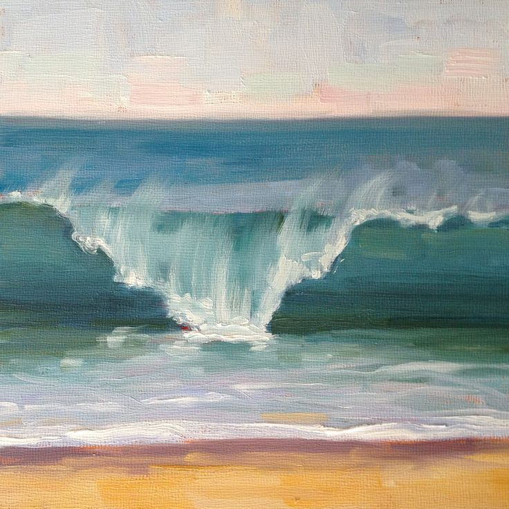Hand-painted seascape oil paintings, large-scale abstract landscape paintings, modern art, home mura