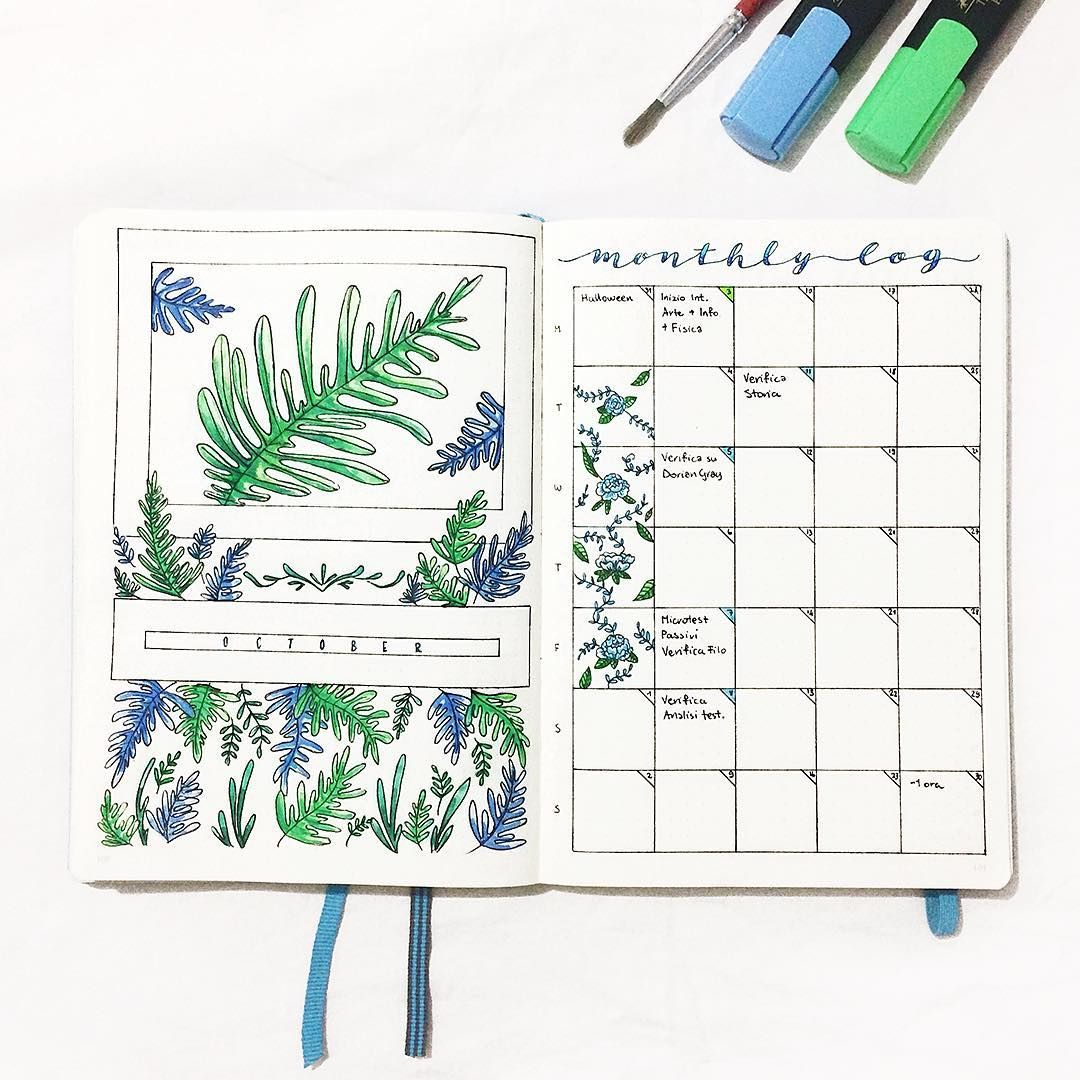 "Yu � Bullet Journal, Studygram on Instagram: ""Hello October ️ I had so much fun doing this, watercoloring is so relaxing! """