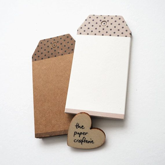 Polka Dot Bookmark Kraft Paper Gift Tag  Set by ThePaperCrafterie