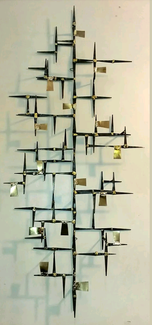 Hand Brazed Mid Century Modern Nail Wall Sculpture Created By Artist Corey Ellis Ultra Modern Abstract Con Metal Tree Wall Art Tree Of Life Art Wall Sculptures
