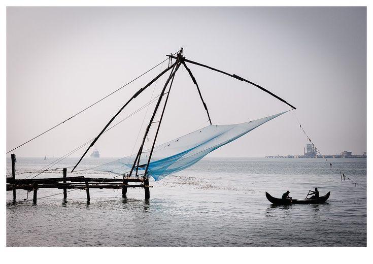 Fishermen Fort Kochi 119x84cm Landscape Illustration Kochi Travel Photography