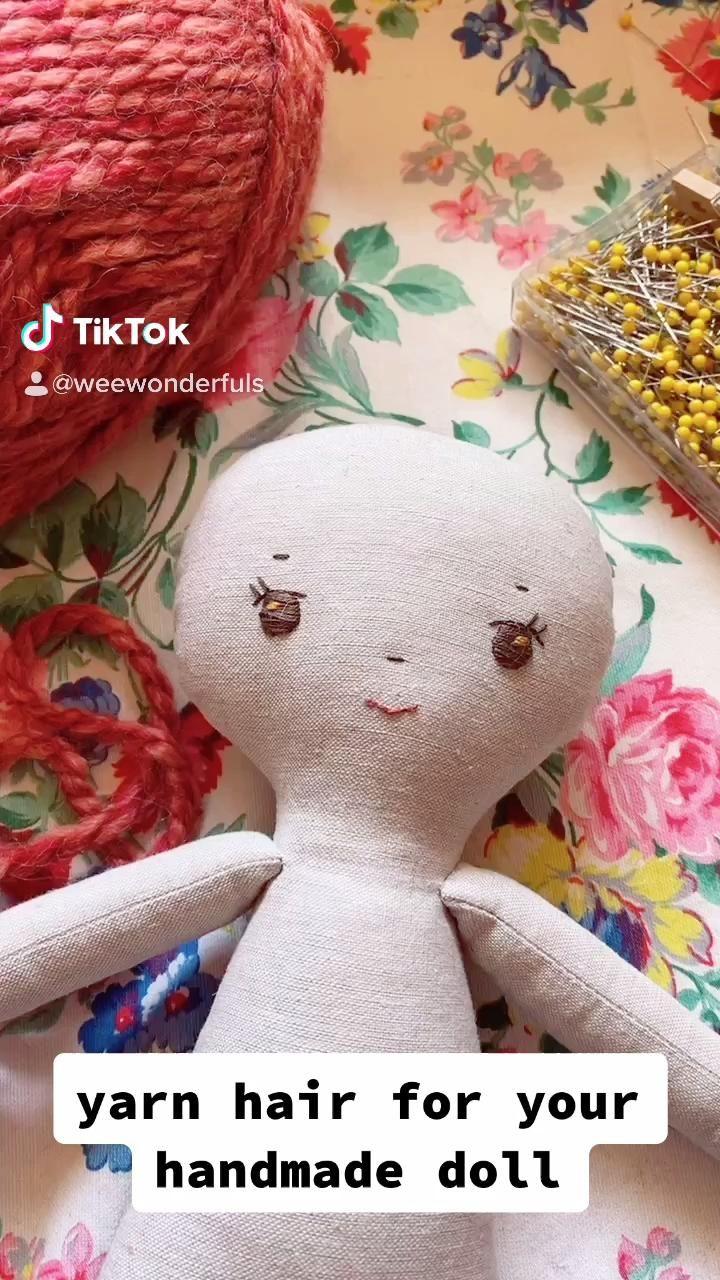 yarn hair for your handmade doll