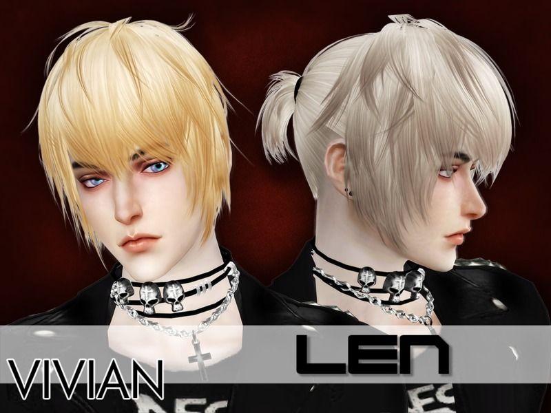 The Sims Resource Len Hair By Viviandang Sims Cc Sims 4 Sims