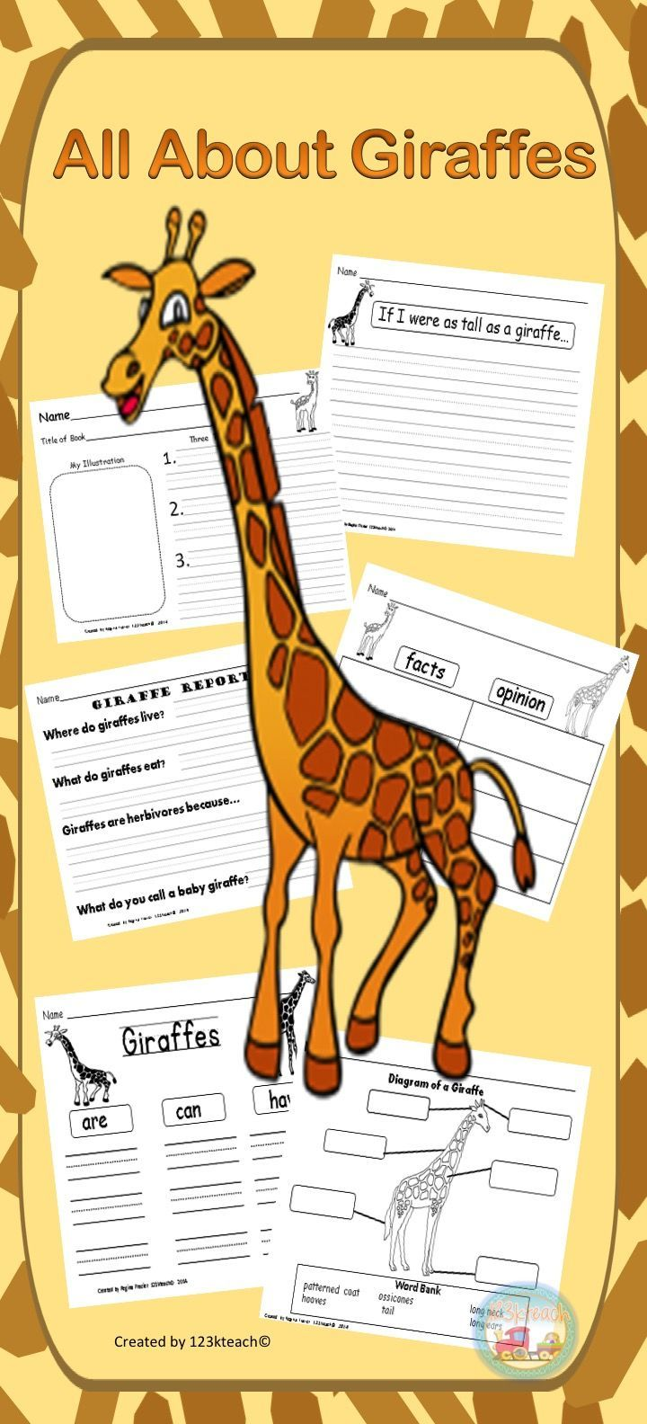 Have Your Students Show Off Their Knowledge About What They Have Learned About Giraffes After They Have Done Some Re Graphic Organizers Writing Prompts Giraffe [ 1584 x 720 Pixel ]