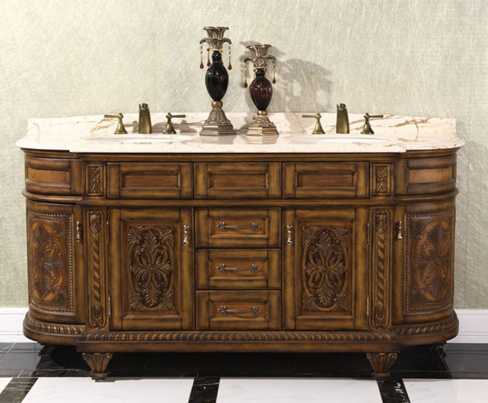 Antique 71 Double Sink Bathroom Vanity By Infurniture Model Wb