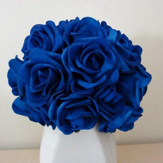 Vanrina Royal Blue Flowers Artificial Wedding Flowers Wholesale 200
