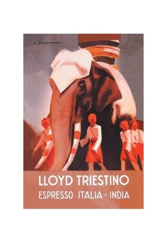 'Italian Espresso (Brown) Advertisement' Print (Unframed Paper Poster Giclee 20x29)